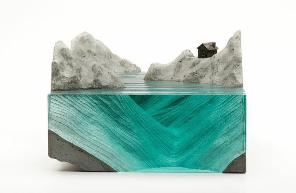 Skulpturen aus Glas meer ozean eisberg insel