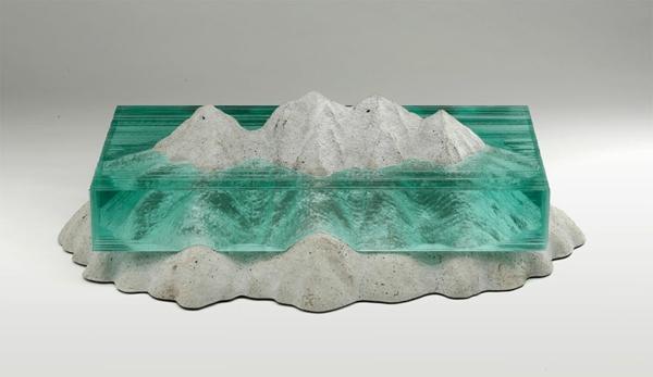 Skulpturen aus Glas meer ozean eisberg