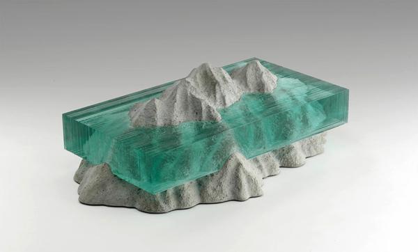 Skulpturen Glas meer ozean farben