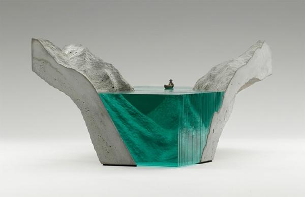 Skulpturen aus Glas meer ozean fischmann