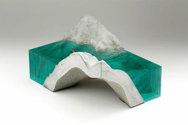 Skulpturen figuren Glas meer ozean geschliffen