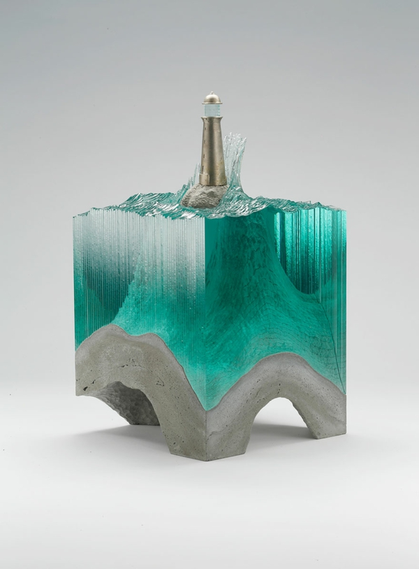 Skulpturen Glas meer ozean objekt einsam