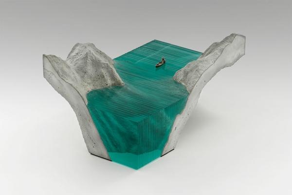 Skulpturen eis figuren Glas meer ozean objekt