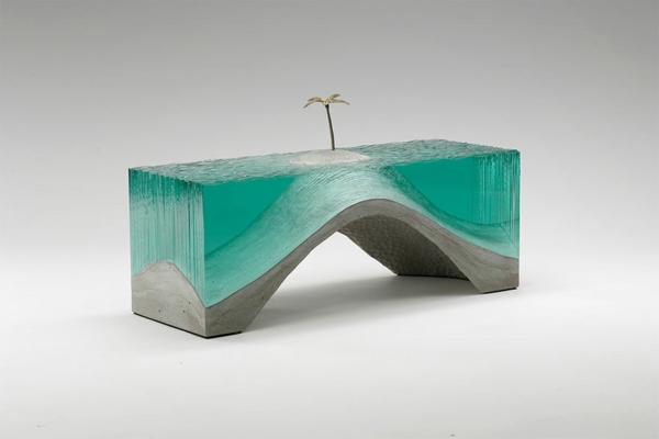 Skulpturen Glas meer ozean türkis farben