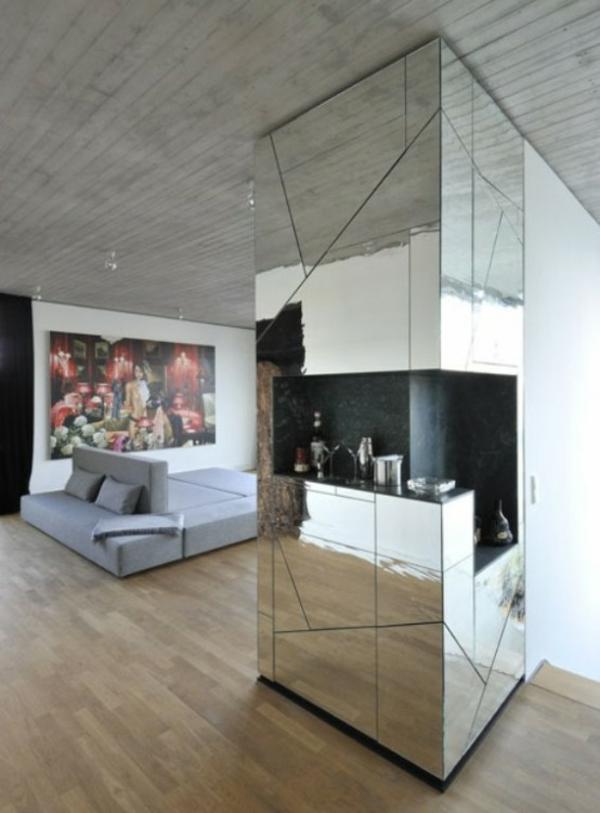spiegelwand kaufen glanzvoller charme und kunstvolle widerspiegelung. Black Bedroom Furniture Sets. Home Design Ideas