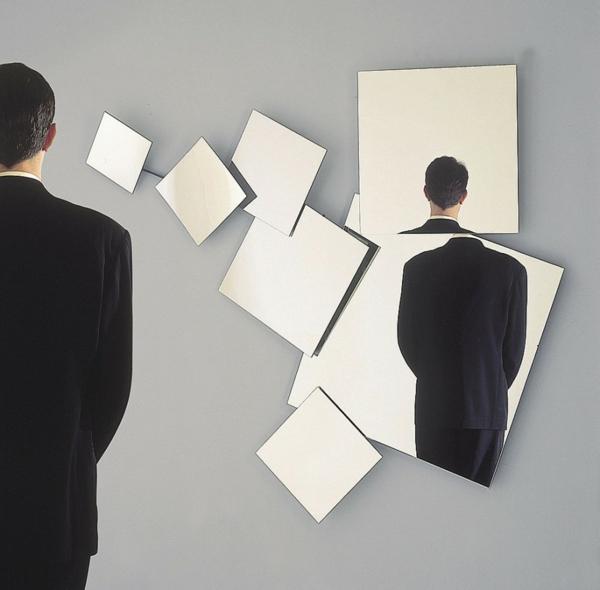 Spiegelwand art abstrakt kaufen ideen geometrisch