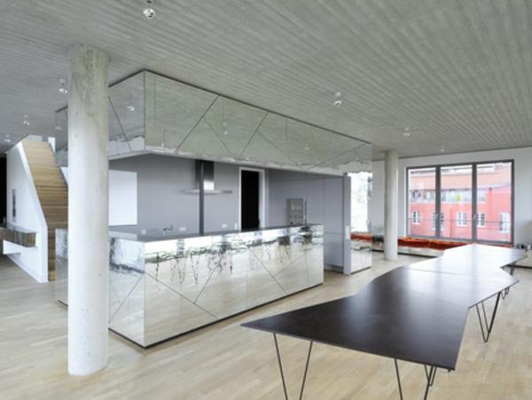 Spiegelwand küchenarbeitsplatte kaufen küche insel
