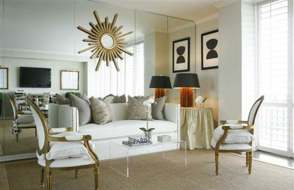 Spiegelwand kaufen wohnzmimer gestalten design