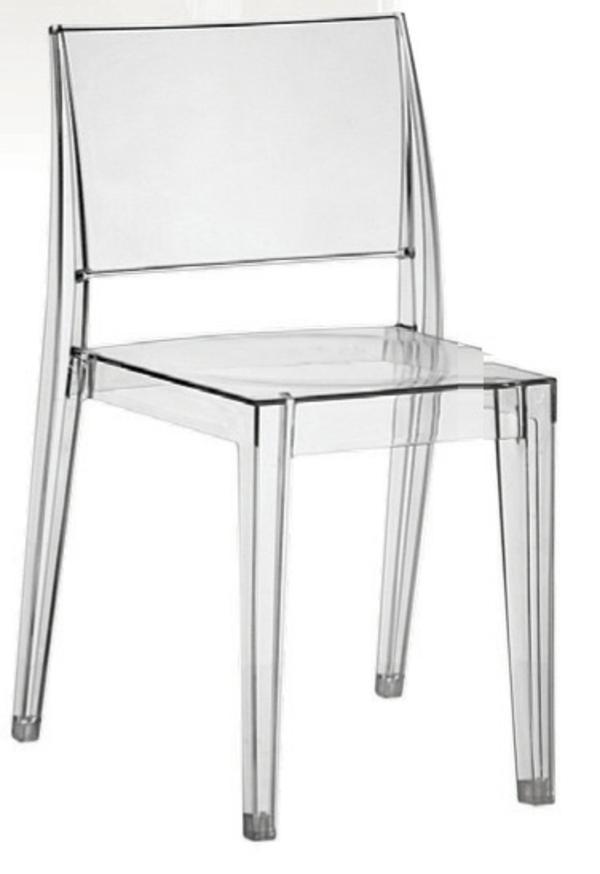 Stühle Esstisch holz modern akryl transparent