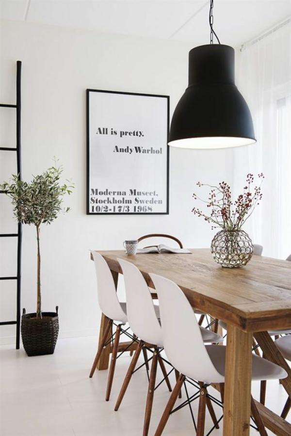 Stühle rahmen Esstisch holz modern lampenschirm