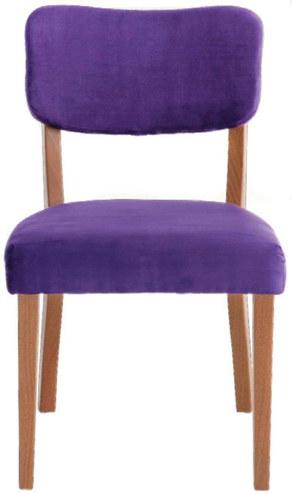 Stühle für Esstisch holz modern lila