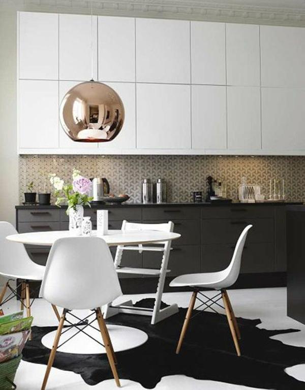 Stühle für Esstisch holz modern teppich
