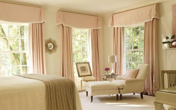 Teppich pastellfarben Crème rund günstig rosa vorhang