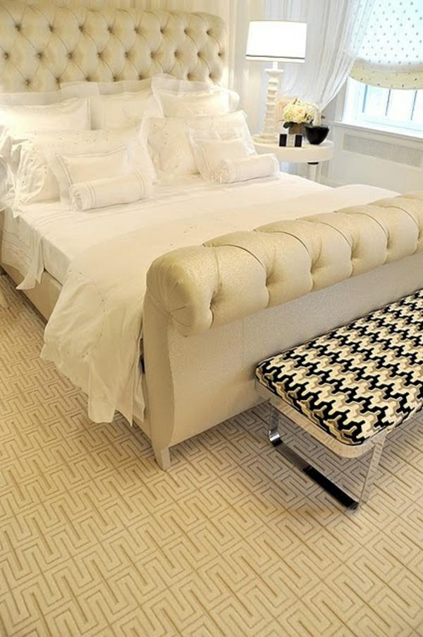 Teppiche kopfteil polsterung Crème rund günstig schlafzimmer