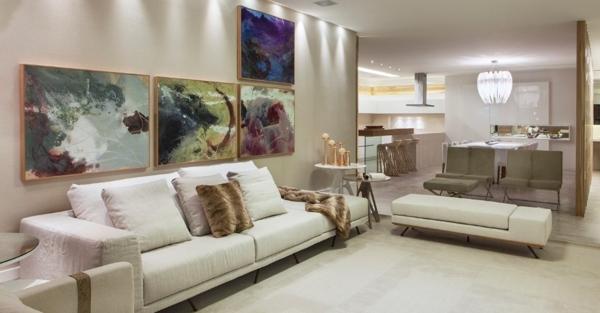 Teppiche in Crème rund günstig sofa