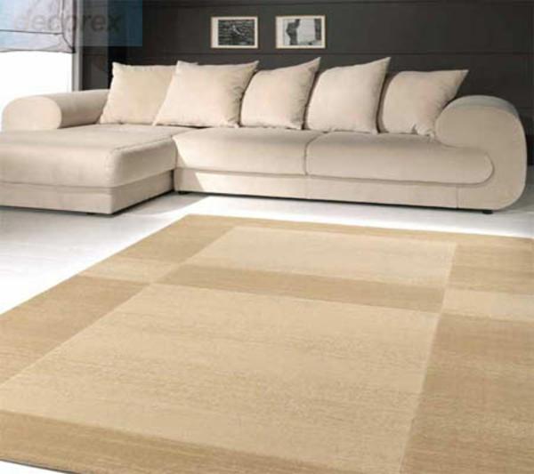 Teppich in Crème rund günstig wohnzimmer