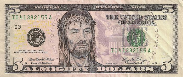 Us Dollar Banknoten dollar scheine jesus gesicht