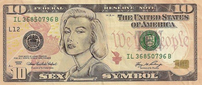 Us Dollar Banknoten dollar scheine merilyn monroe gesicht