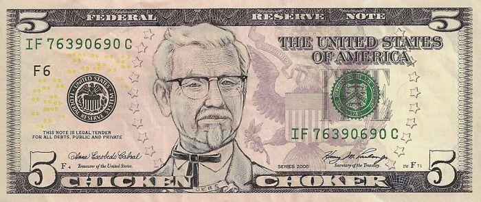 Us Dollar Banknoten us popkultur kfc
