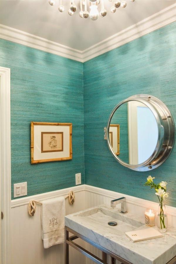 Wandgestaltung im badezimmer  30 frische Farbideen für Wandfarbe in Türkis