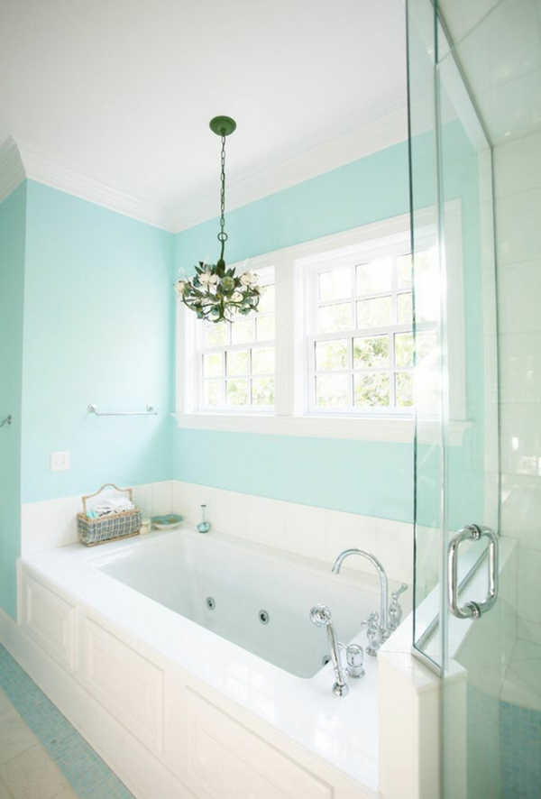 Wandfarbe wandgestaltung badewanne