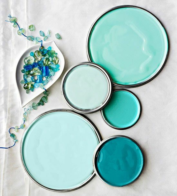 Wandfarbe niedlich Türkis wandgestaltung farbtöne