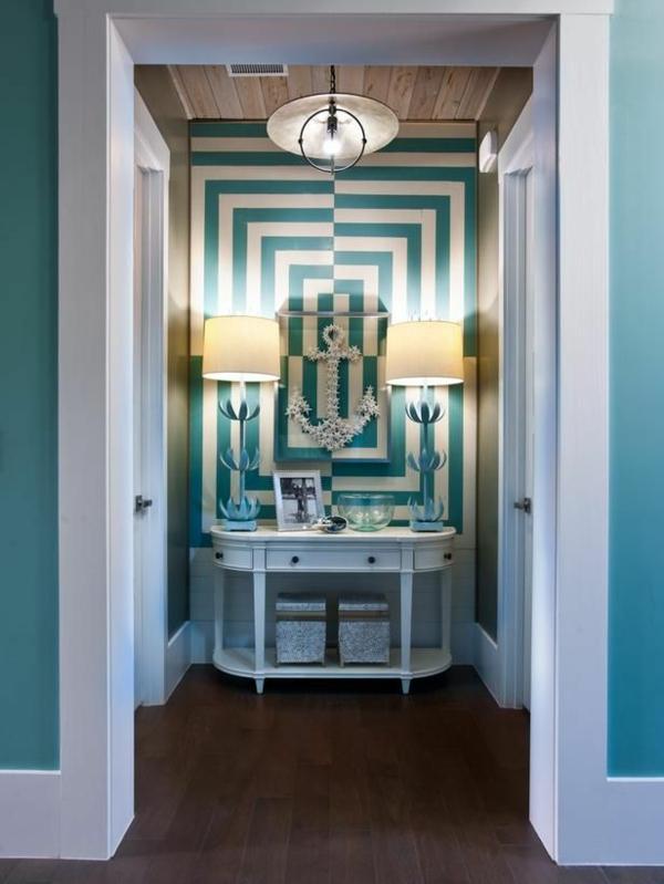 T rkis idee schlafzimmer - Wandfarbe brauntone ...