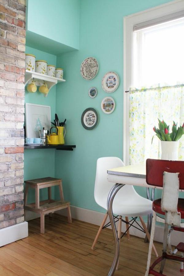 Wandgestaltung schlafzimmer türkis ~ Dayoop.com