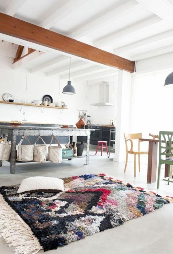 Waschbare fell weich Küchenteppiche und Läufe holz balken
