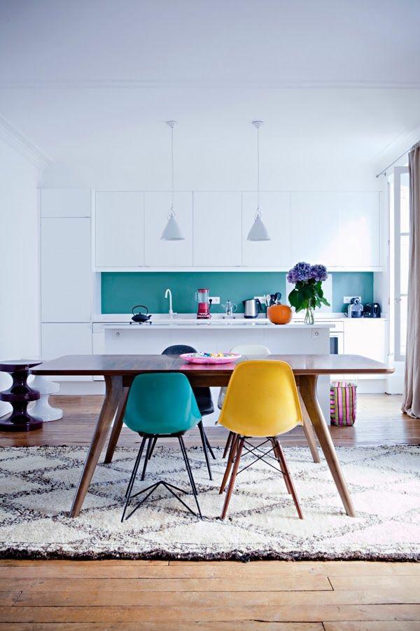Waschbare hängelampen Küchenteppiche und Läufer akryl stühle