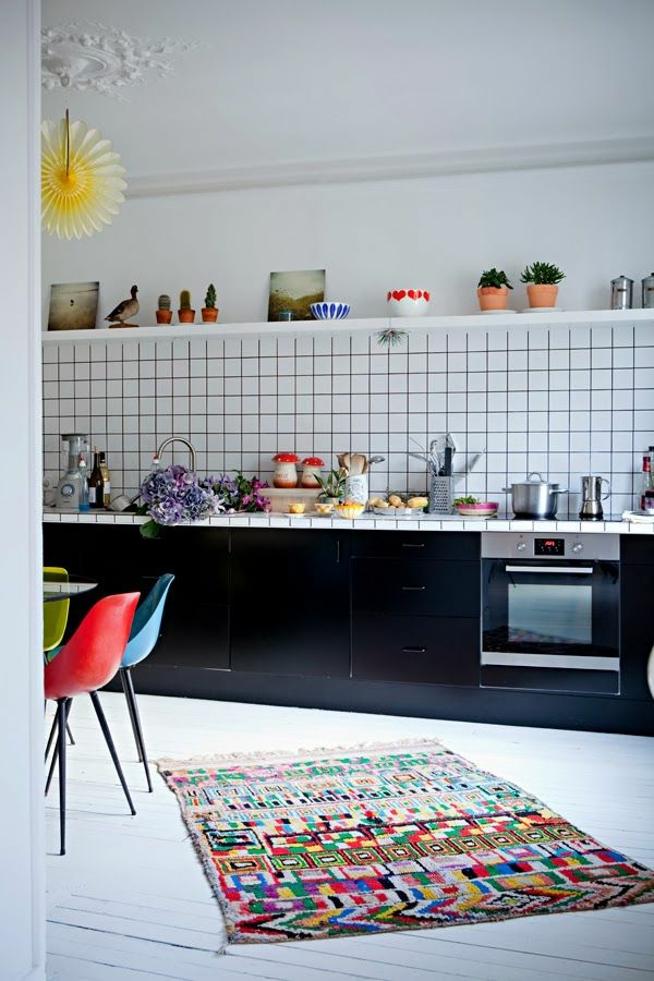 Waschbare Küchenteppiche Läufer bunt