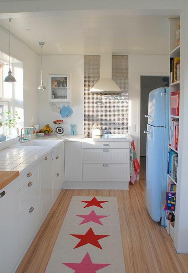 Küchenteppiche und Läufer rote sterne