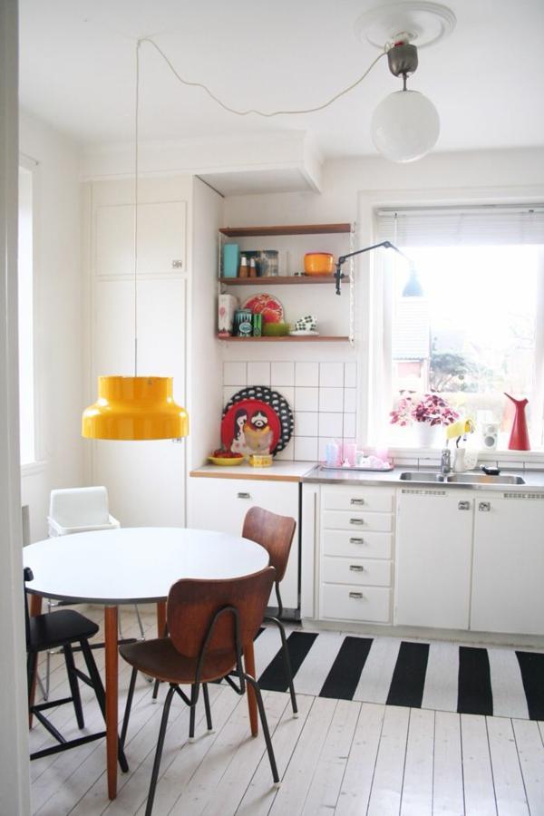 Küchenteppiche und Läufer schwarz weiß