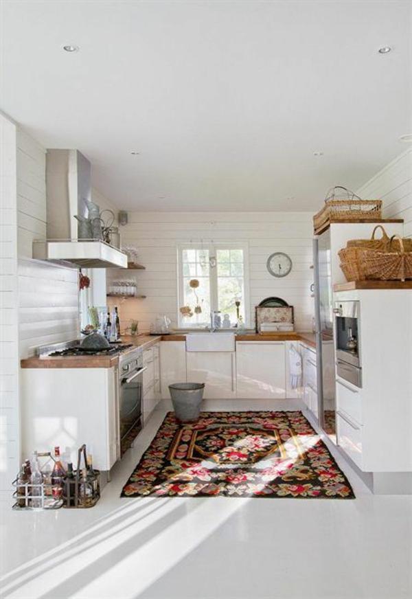 Waschbare Küchenteppiche und Läufer sonnenlicht