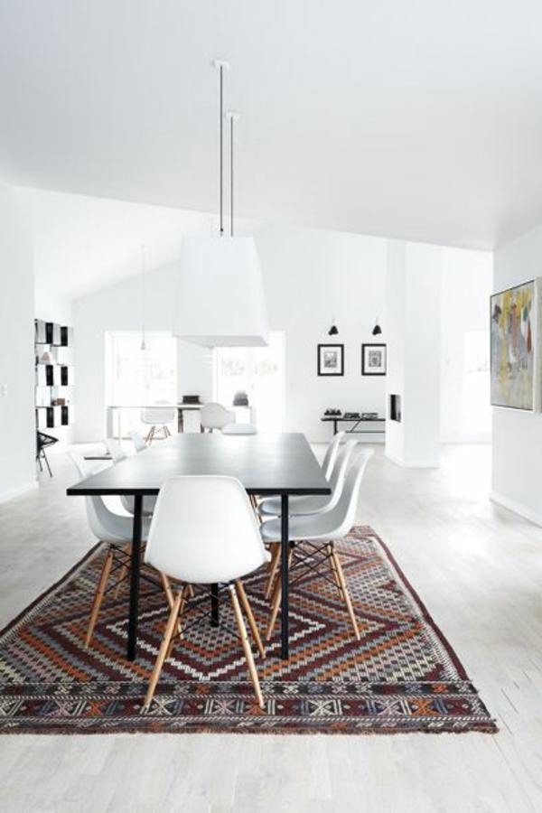 Waschbare Küchenteppiche und Läufer weiß ambiente
