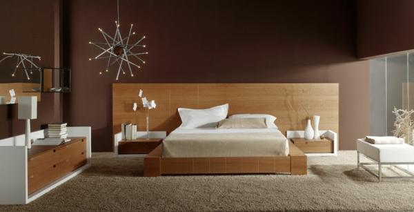 Wandgestaltung Schlafzimmer Braun - parsvending.com -