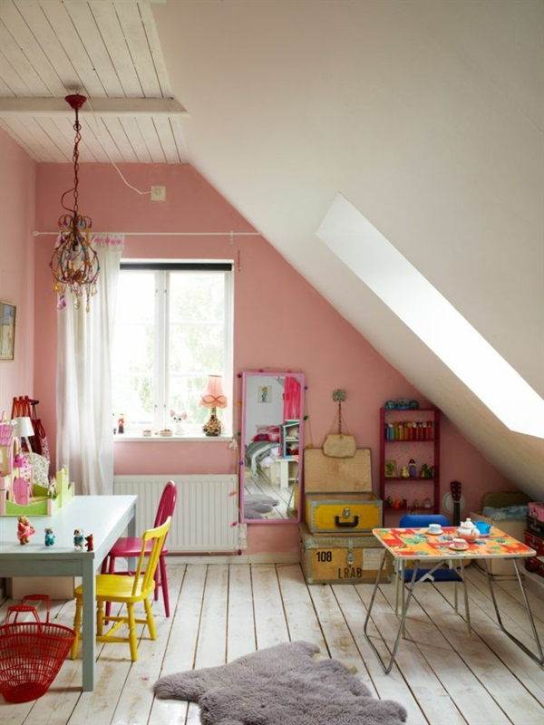 altrosa wandfarbe wohnzimmer klassisch vintage dach