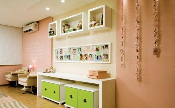 altrosa wandfarbe wohnzimmer klassisch vintage grün kasten