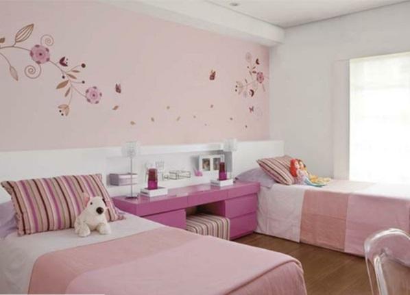 wohnzimmer altrosa:Zum Schluss wollen wir Ihnen diese beiden Kinderzimmer für Mädchen