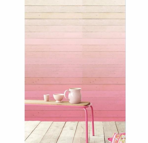 altrosa wandfarbe wohnzimmer klassisch vintage tisch geschirr