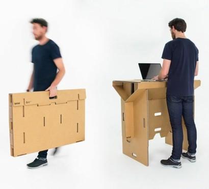 Außergewöhnliche Möbel -Ausgefallener Tisch aus Kartonpapier