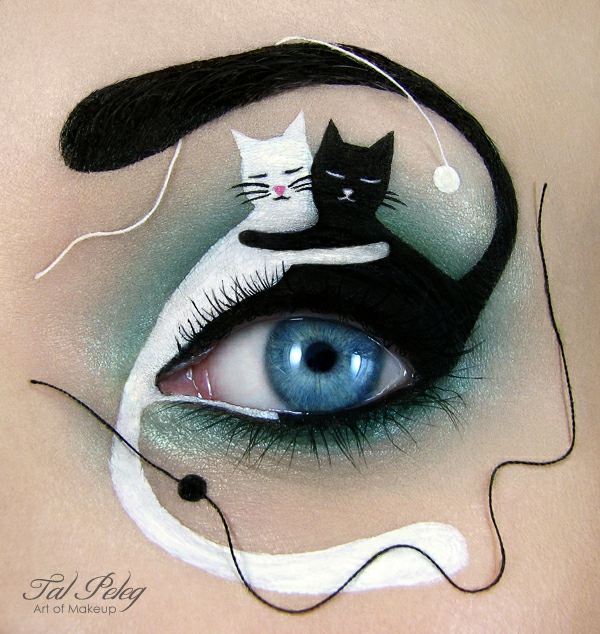 augen schminken halloween katzen