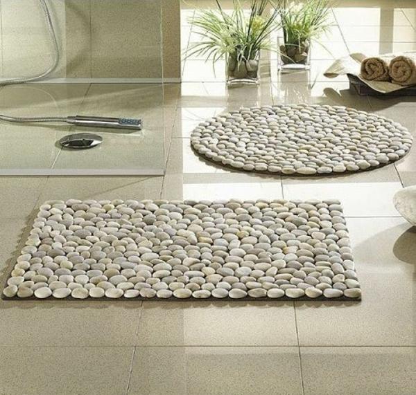 Bad Kieselsteine badteppiche lassen ihr bad gemütlicher und einladender wirken