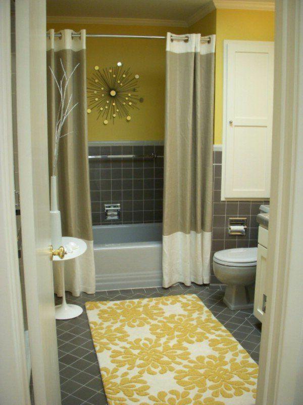 Badmatte Fliesenboden Badteppiche Badvorleger Gelb