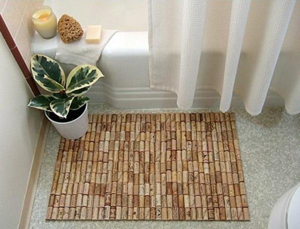 badmatte selber machen korken badeteppiche diy badvorleger