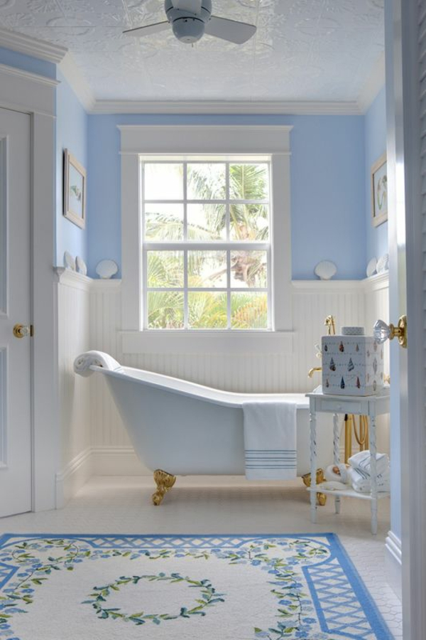 badmatten badeteppiche badvorleger blau wandfarbe