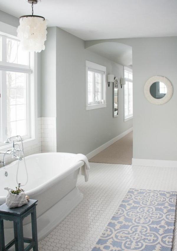 badmatten baumwolle badeteppiche badvorleger blau freistehende badewanne