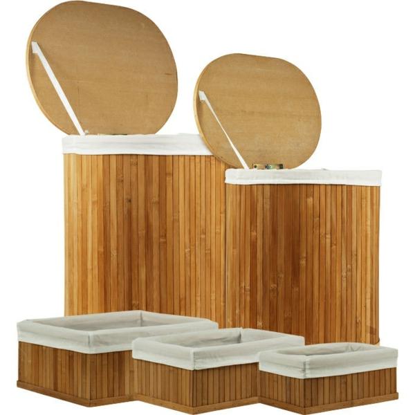bambus badmöbel asiatischer stil aufbewahrungskisten