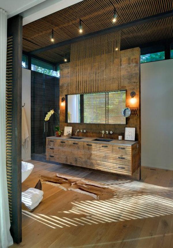 bambus badmöbel korbkisten asiatischer stil badeinrichtung ideen