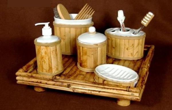 Bambus Badmöbel sorgen für eine Zen-Atmosphäre im modernen Badezimmer